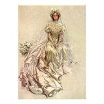 Ducha nupcial del retrato de la novia del Victoria Comunicados Personalizados