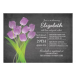 Ducha nupcial del tulipán púrpura moderno de la pi invitacion personal
