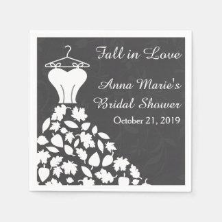 Ducha nupcial del vestido de boda de las hojas de servilletas desechables