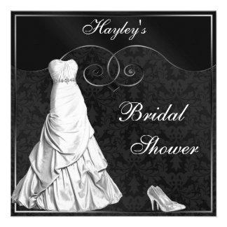 Ducha nupcial del vestido de la plata blanca atrac anuncios personalizados
