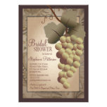 Ducha nupcial del vino toscano de la vid del Viejo Invitaciones Personalizada