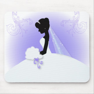 ducha nupcial del vintage de la silueta romántica mouse pad