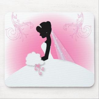 ducha nupcial del vintage de la silueta romántica mousepad