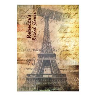 ducha nupcial del vintage de la torre Eiffel de Anuncio Personalizado