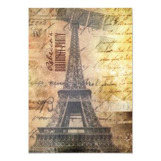 ducha nupcial del vintage de la torre Eiffel de Invitacion Personal