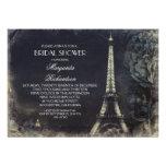 Ducha nupcial del vintage de la torre Eiffel de Pa Anuncio Personalizado
