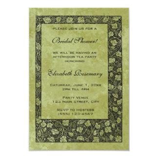 Ducha nupcial del vintage, hojas de la vid de uva invitación 8,9 x 12,7 cm