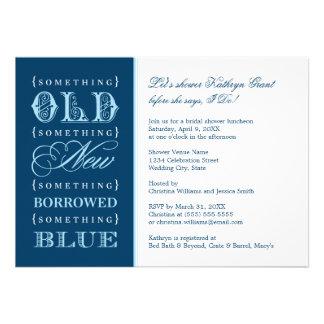 Ducha nupcial el | algo nuevo azul prestado viejo comunicado