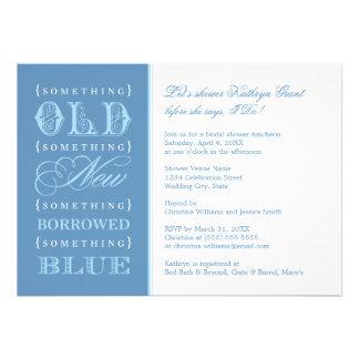 Ducha nupcial el | algo nuevo azul prestado viejo anuncio personalizado