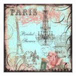 Ducha nupcial elegante de la torre Eiffel y de la Comunicados Personalizados