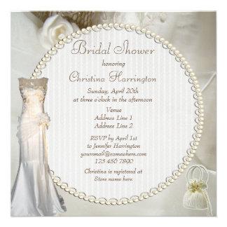 Ducha nupcial elegante del vestido de boda del vin comunicados personales
