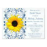 Ducha nupcial floral blanca de los azules marinos comunicado personal