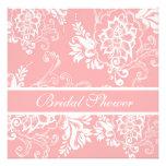 Ducha nupcial floral decorativa rosada elegante comunicado personal