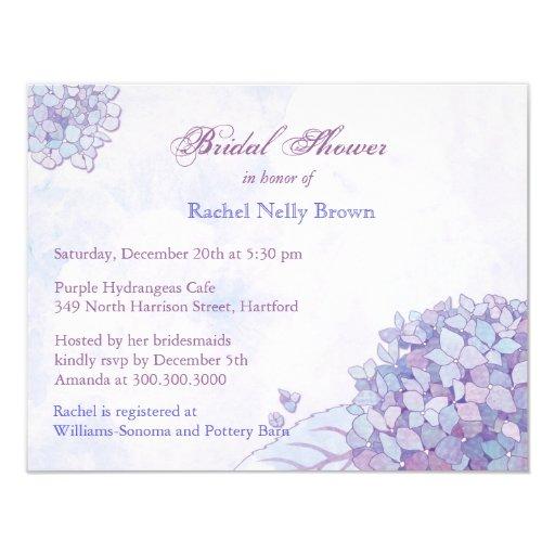 """Ducha nupcial floral del Hydrangea dulce de la Invitación 4.25"""" X 5.5"""""""