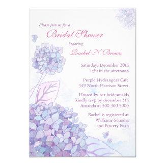 Ducha nupcial floral del Hydrangea púrpura lindo