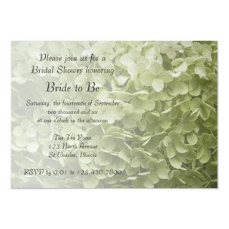 """Ducha nupcial floral del Hydrangea verde de Invitación 5"""" X 7"""""""