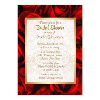 Ducha nupcial floral del rosa rojo