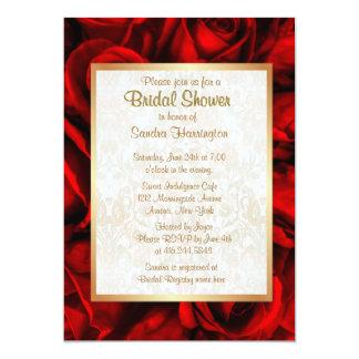 Ducha nupcial floral del rosa rojo anuncio