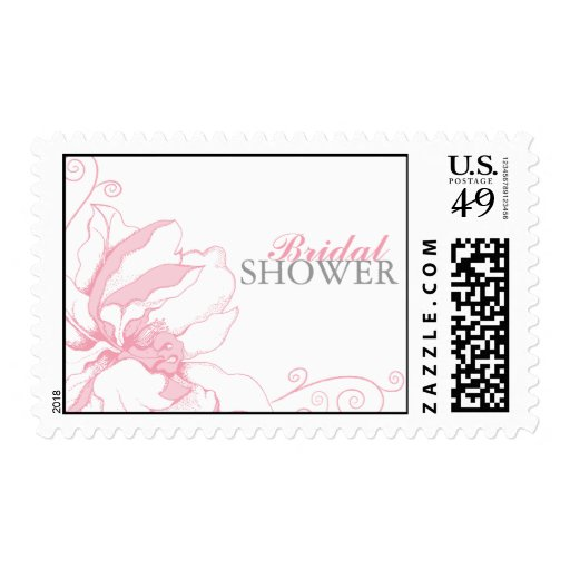 Ducha nupcial floral elegante sello