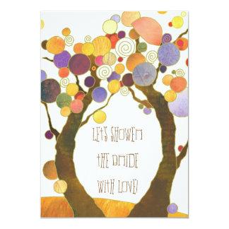 """Ducha nupcial inspiradora de los árboles de amor invitación 5"""" x 7"""""""