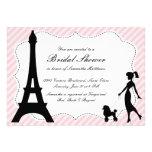 Ducha nupcial Invitatio de la torre Eiffel y del c Invitacion Personal