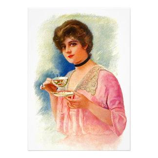 Ducha nupcial M D de la INVITACIÓN formal del té d