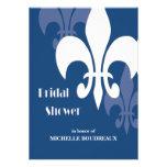 Ducha nupcial moderna de 3 flores de lis (azul mar