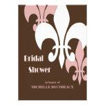 Ducha nupcial moderna de 3 flores de lis (chocolat
