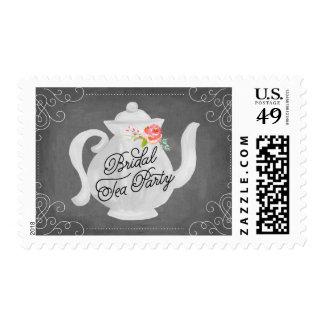 Ducha nupcial nupcial de la fiesta del té el   sellos