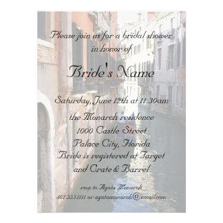 Ducha nupcial para el boda veneciano del tema invitaciones personalizada