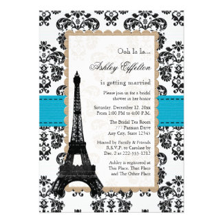 Ducha nupcial parisiense de la torre Eiffel de la  Anuncios