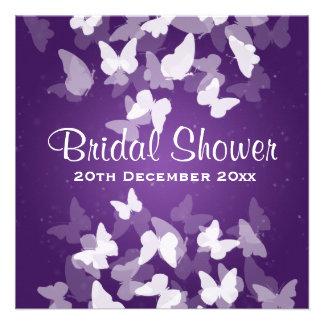 Ducha nupcial púrpura de las mariposas evasivas anuncios