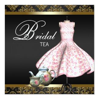 Ducha nupcial rosada de la taza de té del damasco comunicados