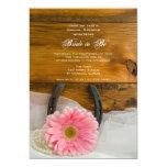 Ducha nupcial rosada del país de la margarita y de invitación 12,7 x 17,8 cm