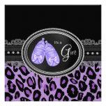 Ducha púrpura de la niña del leopardo de la lavand comunicado