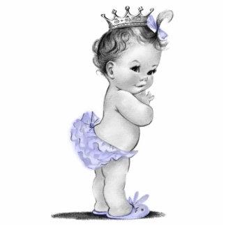 Ducha púrpura de la princesa niña del vintage fotoescultura vertical