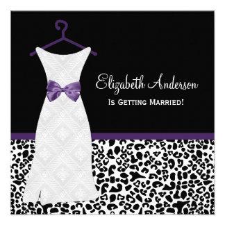 Ducha púrpura de PrintBridal del leopardo del vest Comunicados Personales