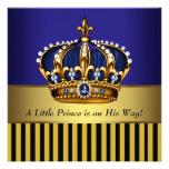 Ducha real del príncipe bebé del oro del negro de  comunicados