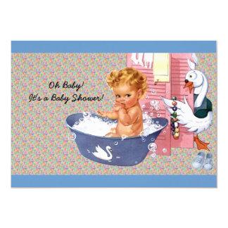 Ducha retra del bebé de los años 40 anuncios personalizados