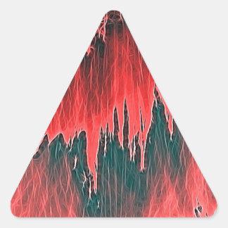 ducha roja pegatina triangular