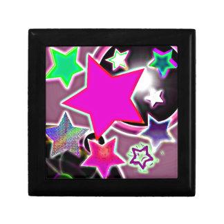Ducha rosada de la estrella caja de joyas