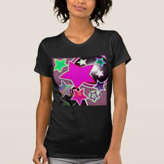 Ducha rosada de la estrella camisetas