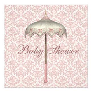 Ducha rosada de la niña del paraguas del parasol d anuncio
