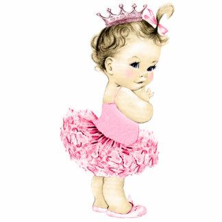 Ducha rosada de la princesa niña de la bailarina fotoescultura vertical