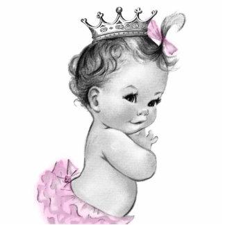 Ducha rosada de la princesa niña del vintage escultura fotográfica