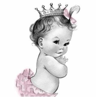 Ducha rosada de la princesa niña del vintage esculturas fotográficas