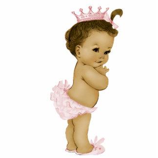 Ducha rosada de la princesa niña del vintage fotoescultura vertical