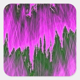 ducha rosada pegatina cuadrada