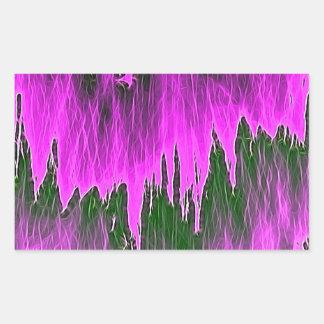 ducha rosada pegatina rectangular