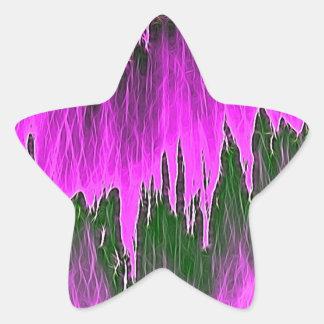 ducha rosada pegatina en forma de estrella